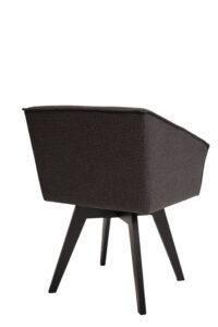 Armchair Tolouse black beech with Rotation 5